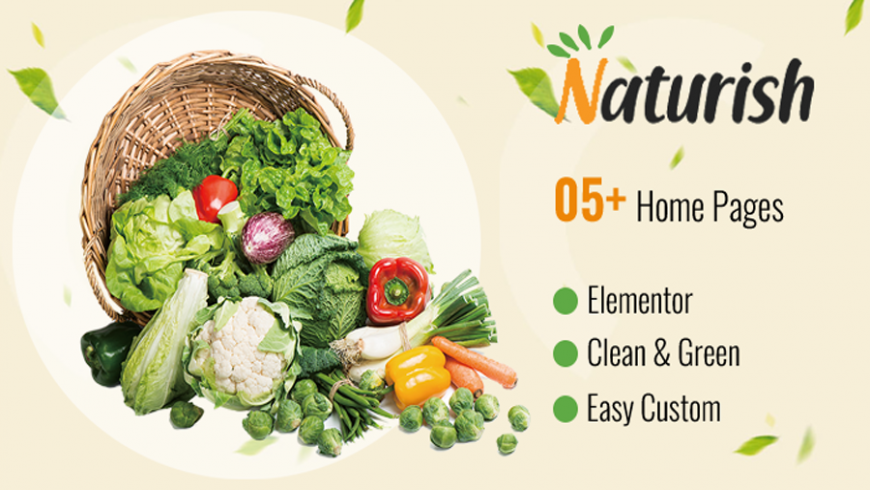 Top demos for naturish theme for food, vegetable shop, makeup products.