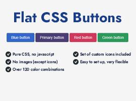 Flat CSS Buttons