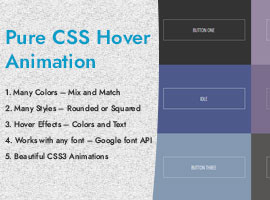 Pure CSS Hover Animation