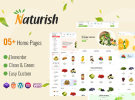 Naturish - Food, Vegetable Shop, Makeup Products Best WordPress Theme